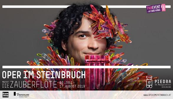 Montagebild für Oper Zauberflöte © Montage, Oper im Steinbruch St. Margarethen