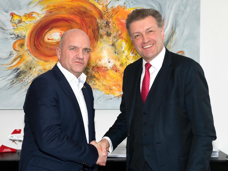 Gemeinsam für mehr Konsumenten-Sicherheit: AK Niederösterreich--Präsident Markus Wieser (li.) und ASFINAG-Vorstandsdirektor Klaus Schierhackl © Gernot Buchegger, AK Niederösterreich
