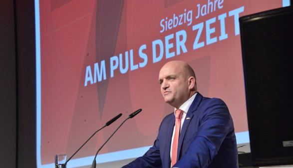 AK Niederösterreich-Präsident Markus Wieser bei den 70 Jahr Feierlichkeiten © A. Kromus, AK Niederösterreich