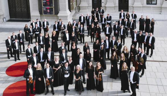 Orchester vor Musikverein © Martina Siebenhandl, Tonkünstler Orchester Niederösterreich