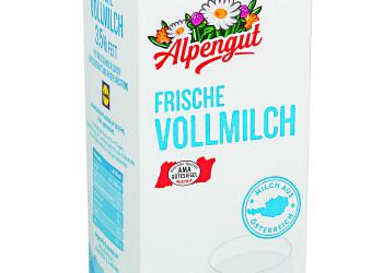 Alpengut Frische Vollmilch ©  , VKI