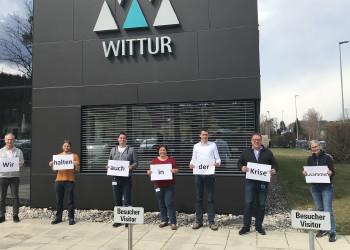 Die MitarbeiterInnen vom Angestellten- und Arbeiterbereich der Firma Wittur halten auch während der Coronakrise zusammen. ©  , AK Niederösterreich, zVg