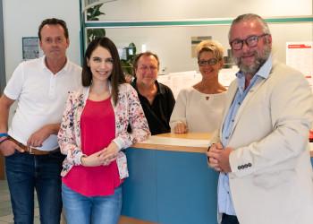 Bezirksstellenleiter Windbichler und ein Tei des Teams © Prinz, AK Niederösterreich