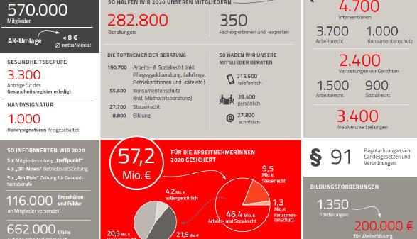 Grafik: Leistungsübersicht 2020 © Rauch-Gessl, AK Niederösterreich