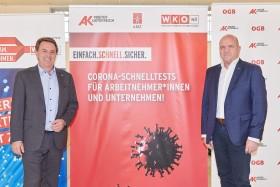 Die Sozialpartner Arbeiterkammer und Wirtschaftskammer NÖ haben die Corona-Schnelltests für ArbeitnehmerInnen und Unternehmer jetzt landesweit umgesetzt. ©  , AK Niederösterreich