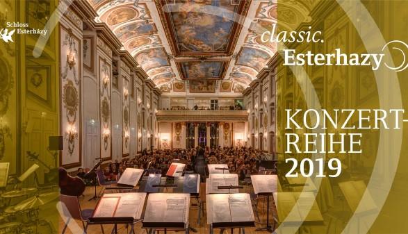 Bildmontage für Konzertreihe classic.Esterhazy © Montage, Schloss Esterházy