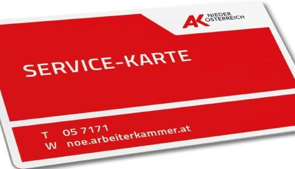 Bild Service-Karte © AK Niederösterreich