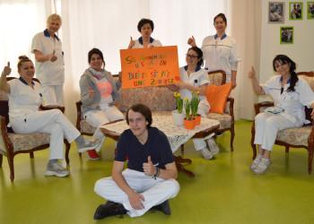 Auf die MitarbeiterInnen des Pflege- und Betreuungszentrum Mödling kann man auch jetzt während der Coronakrise zählen. ©  , AK Niederösterreich, zVg