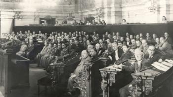 Erste Sitzung des niederösterreichischen ArbeitnehmerInnen-Parlaments im niederösterreichischen Landhaus © Unbekannt, AK Niederösterreich