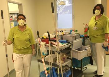 Die MitarbeiterInnen des Landesklinikum Amstetten sind für Ihre PatientInnen unter strengen Hygienevorschriften da. ©  , AK Niederösterreich, zVg