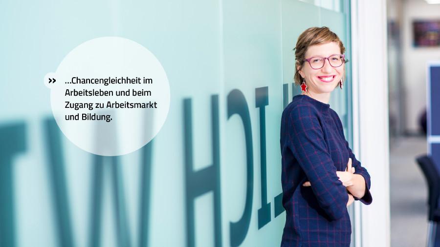 Wir stehen für Chancengleichheit im Arbeitsleben und beim Zugang zu Arbeitsmarkt und Bildung. © Mario Scheichel, AK Niederösterreich