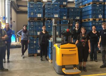 Das BR-Team der Firma Pollmann führt tagtäglich verstärkt Gespräche mit den KollegInnen, um deren Sorgen zu minimieren. ©  , AK Niederösterreich, zVg