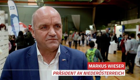 Screenshot von Interview mit Präsident Wieser © AK Niederösterreich,