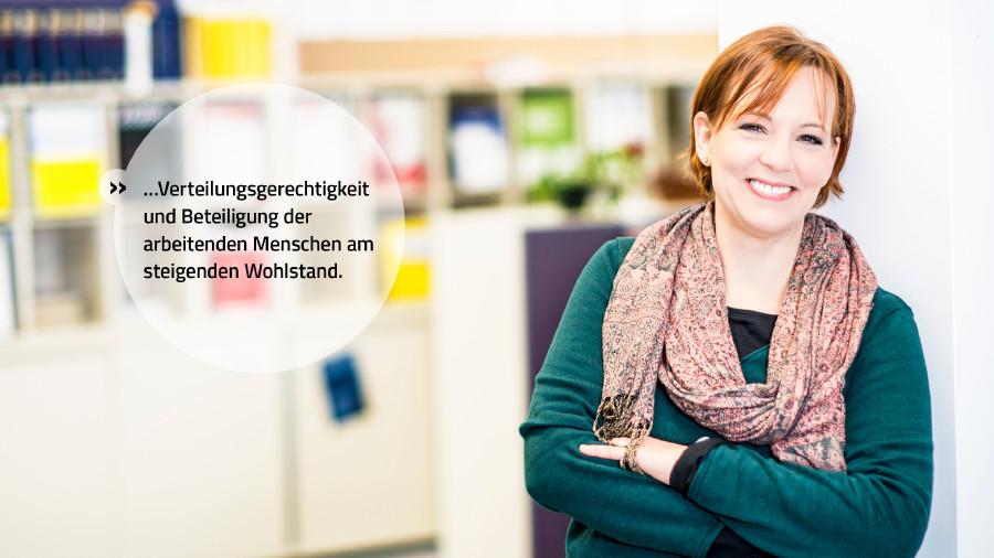 Wir stehen für Verteilungsgerechtigkeit und Beteiligung der arbeitenden Menschen am steigenden Wohlstand. © Mario Scheichel, AK Niederösterreich