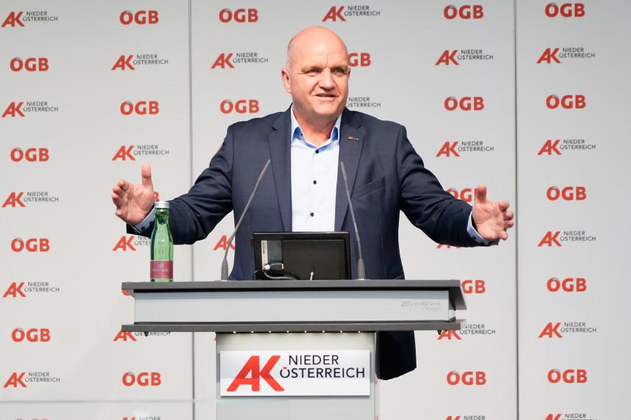 AK Niederösterreich-Präsident und ÖGB Niederösterreich-Vorsitzender Markus Wieser © Wolfgang Prinz, AK Niederösterreich