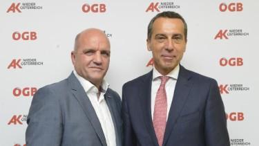AK Niederösterreich-Präsident Markus Wieser und Bundeskanzler Christian Kern © Alexandra Kromus, AK Niederösterreich