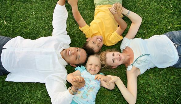 Familie auf Wiese © Pavel Losevsky, stock.adobe.com