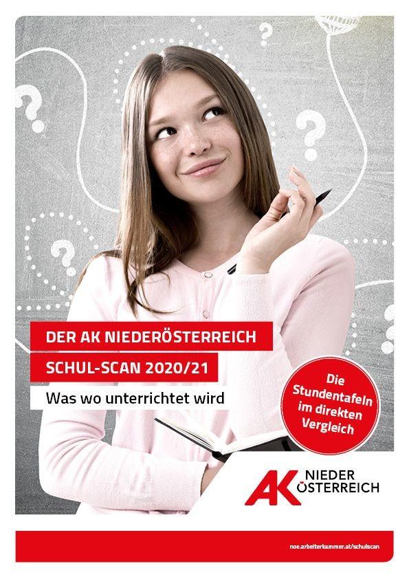 Der neue AK Niederösterreich Schul-Scan bietet einen kompakten Überblick über das vielfältige Angebot der rund 180 berufsbildenden Schulen in Niederösterreich. ©  , AK Niederösterreich