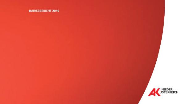 Jahresbericht 2016 © -, AK Niederösterreich