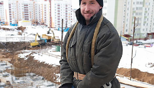 Bauarbeiter im Winter © Kadmy, Fotolia.com